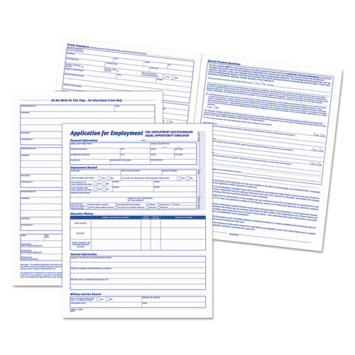 Comprehensive Employee Application Form, 8 1/2 x 11, 25 Forms - employee application forms