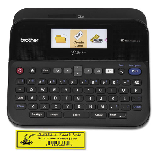 PT-D600VP PC-Connectable Label Maker with Color Display and Carry