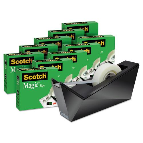 Magic Tape Designer Dispenser Value Pack, Facet Design, 3/4\