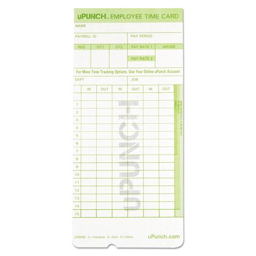 Time Card for uPunch HN1000, HN3000, HN3600 Bundle, 100/Pk - Goddess
