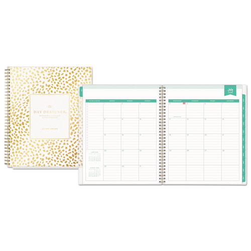 Blue Sky™ Day Designer Academic Year Daily/Monthly Frosted Planner