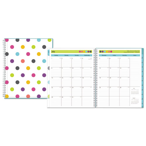 Teacher Dots Academic Year CYO Weekly/Monthly Planner, 8 1/2 x 11