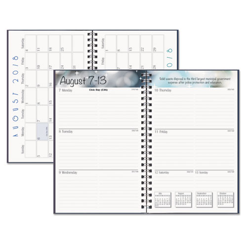 Recycled Academic Weekly/Monthly Appointment Book/Planner, 5x8