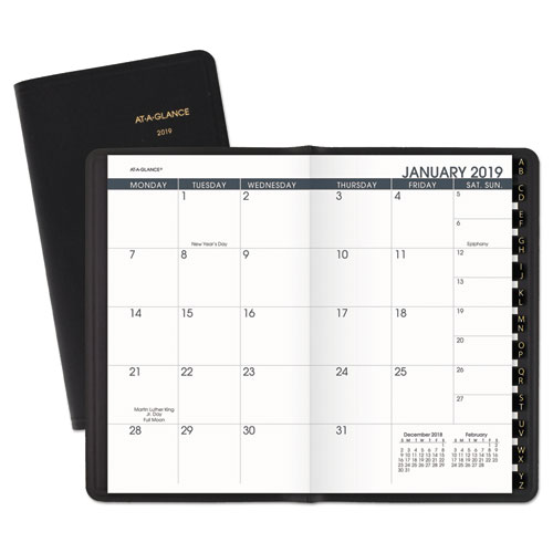 Superwarehouse - Pocket-Size Monthly Planner, 3 1/2 x 6 1/8, White