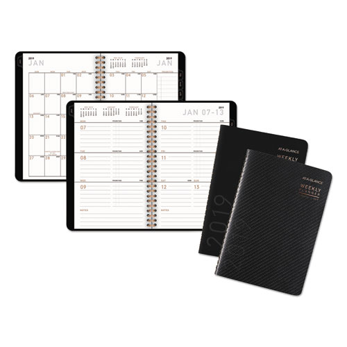 AT-A-GLANCE® Contemporary Weekly/Monthly Planner, Block, 4 7/8 x 8
