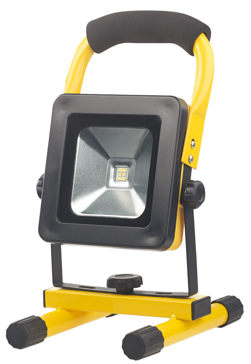 Eclairage Led Chantier Projecteur De Chantier Led Sans Fil 10 W Avec Triple Alimentation Agt