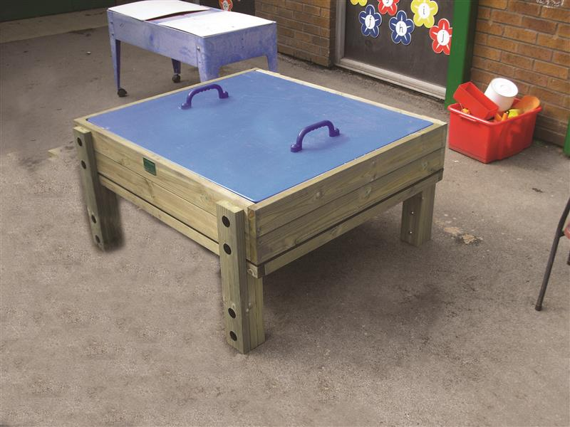 Covered Sand Table With Lid Pentagon Play