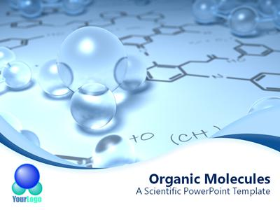 Chemistry Wave - A PowerPoint Template from PresenterMedia - scientific ppt background
