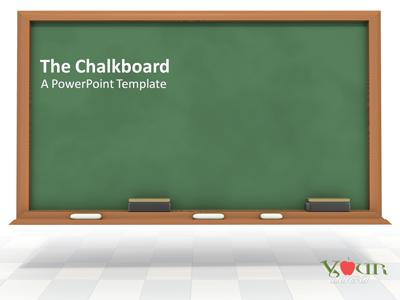 The Chalkboard - A PowerPoint Template from PresenterMedia