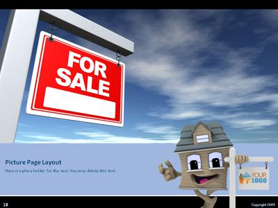 Real Estate Sign - A PowerPoint Template from PresenterMedia - house for sale sign template