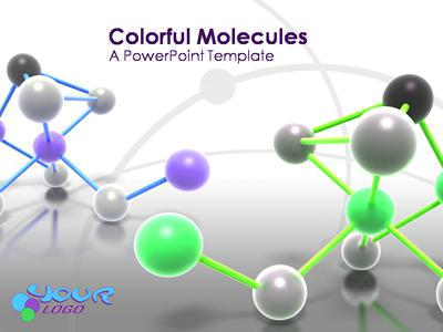 Atom Molecule - A PowerPoint Template from PresenterMedia - scientific ppt background