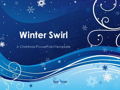 Winter Swirl - A PowerPoint Template from PresenterMedia