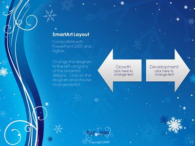 Winter Swirl - A PowerPoint Template from PresenterMedia - winter powerpoint template