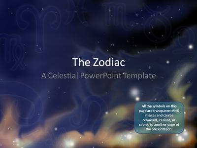 Zodiac Stars - A PowerPoint Template from PresenterMedia