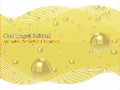 Champagne Bubbles Celebration - A PowerPoint Template from