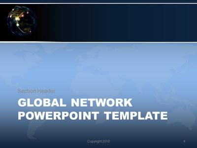 Global Network - A PowerPoint Template from PresenterMedia - global powerpoint template
