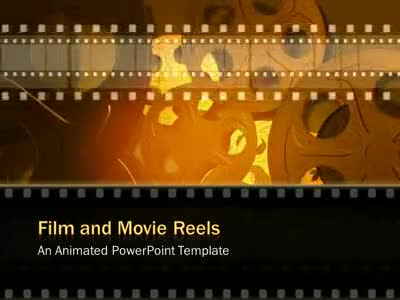 Film And Movie Reels - A PowerPoint Template from PresenterMedia