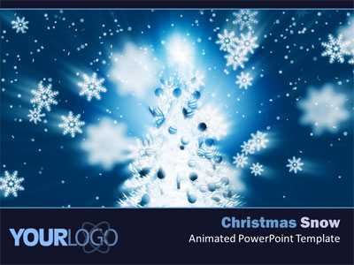 Christmas Snow - A PowerPoint Template from PresenterMedia
