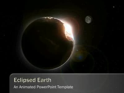 Eclipsed Earth - A PowerPoint Template from PresenterMedia