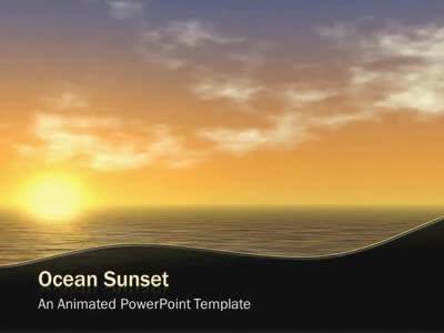 Ocean Sunset - A PowerPoint Template from PresenterMedia