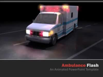 Ambulance Flash - A PowerPoint Template from PresenterMedia