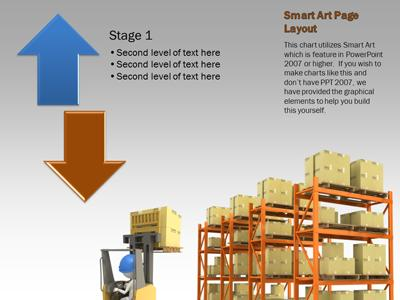 The Shipping Warehouse - A PowerPoint Template from PresenterMedia - smartart powerpoint template