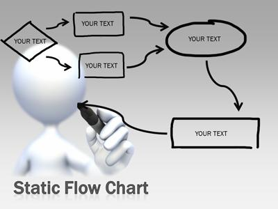 Flow Chart Tool Kit - A PowerPoint Template from PresenterMedia - flowchart template