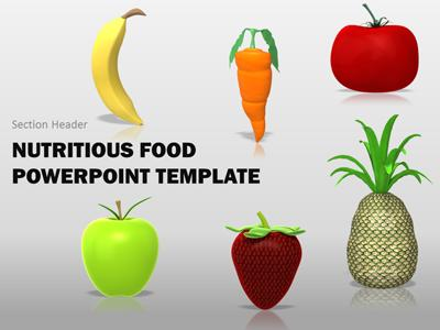 Nutritious Healthy Food - A PowerPoint Template from PresenterMedia