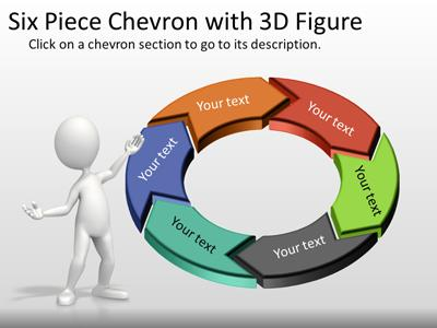 Six Piece Interactive Chevron Tool Kit - A PowerPoint Template from - interactive powerpoint template
