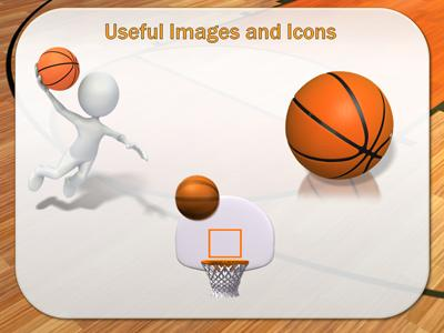 Basketball Court - A PowerPoint Template from PresenterMedia - basketball powerpoint template