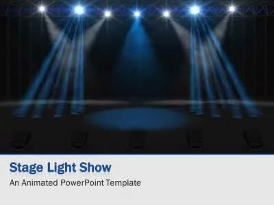 Ppt Wallpapers Animations Light Show Stage A Animated Powerpoint Template From