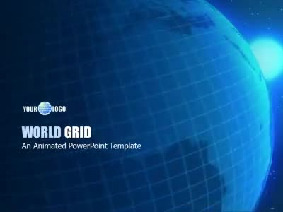 World Grid - A PowerPoint Template from PresenterMedia