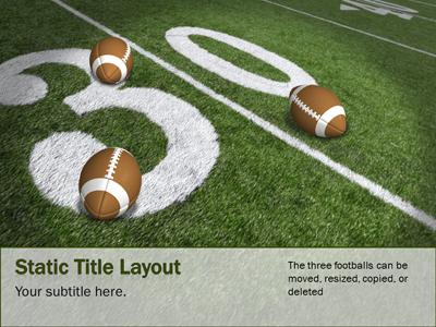 Football Field - A PowerPoint Template from PresenterMedia - football powerpoint template