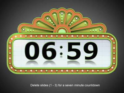 Countdown Timer - A PowerPoint Template from PresenterMedia