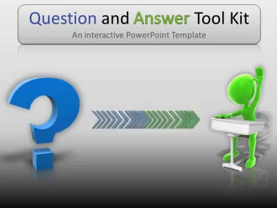Question And Answer Tool Kit - A PowerPoint Template from - interactive powerpoint template
