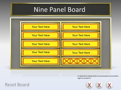 5 Category Question Game Show - A PowerPoint Template from