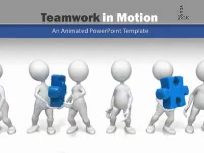 Teamwork In Motion - A PowerPoint Template from PresenterMedia
