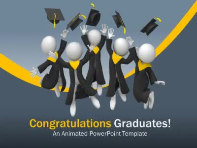 Graduation Leap - A PowerPoint Template from PresenterMedia - graduation powerpoint