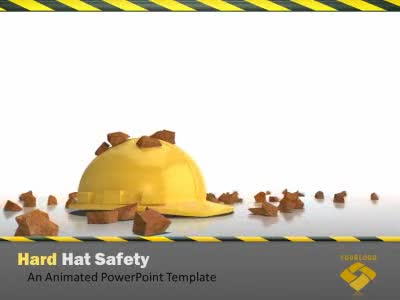 Hard Hat Work Safety - A PowerPoint Template from PresenterMedia