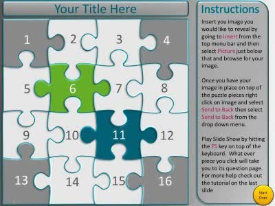 Puzzle Piece Picture Reveal Game - A PowerPoint Template from