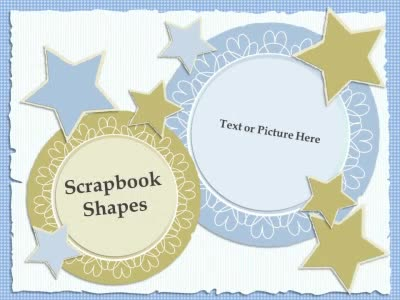 Scrapbook Shapes - A PowerPoint Template from PresenterMedia