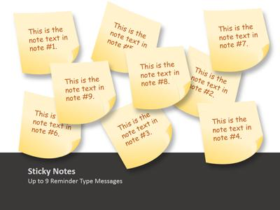 Sticky Note Tool Kit - A PowerPoint Template from PresenterMedia