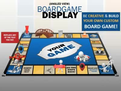 Board Game Display - A PowerPoint Template from PresenterMedia