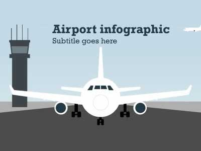 Airport Infographic - A PowerPoint Template from PresenterMedia
