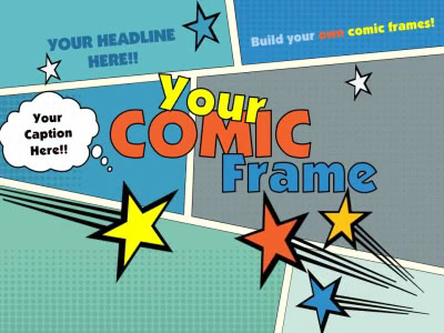 Your Comic Frame - A PowerPoint Template from PresenterMedia