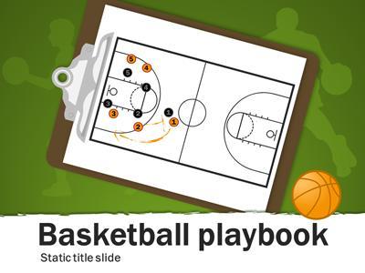 basketball bounce - basketball powerpoint template