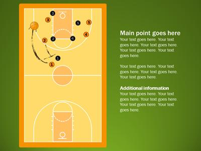 Basketball Playbook - A PowerPoint Template from PresenterMedia - basketball powerpoint template