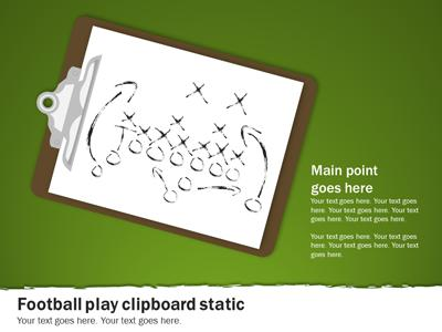 Football Playbook - A PowerPoint Template from PresenterMedia