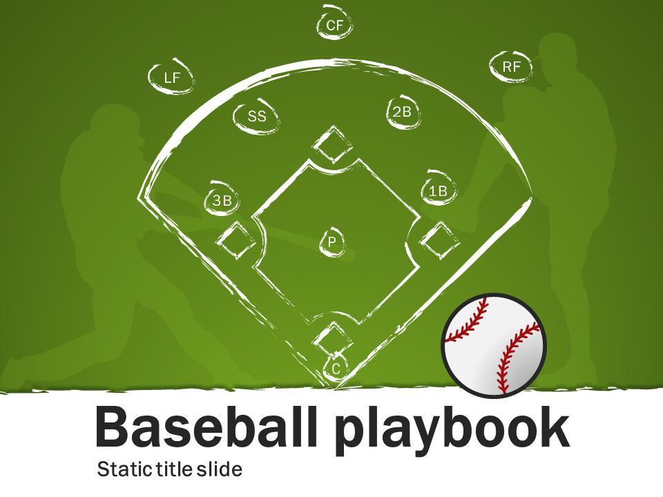 Baseball Playbook - A PowerPoint Template from PresenterMedia