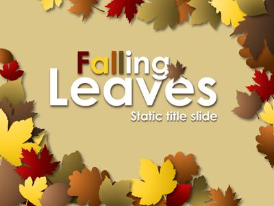 Falling Leaves - A PowerPoint Template from PresenterMedia
